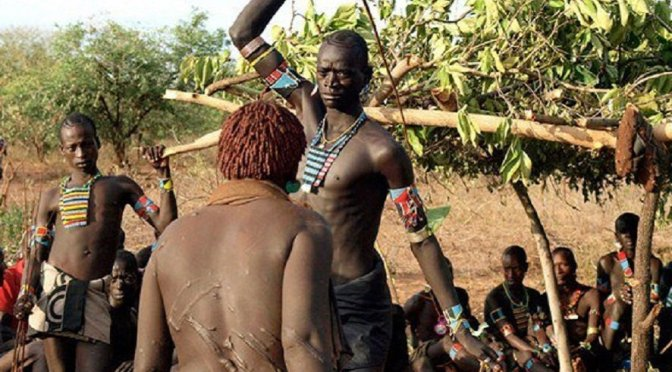 Pain or pleasure? When you get ready to marry her, 1st you have to beat her Hamar tribe