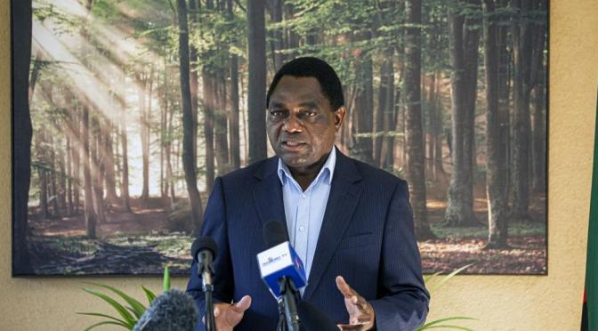 Zambia's opposition leader Hichilema wins election after capturing more than 2.8 million votes